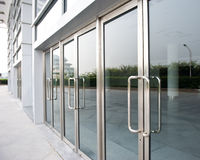Glass door Royalty Free Stock Image