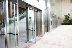Glass door. Of the office building royalty free stock photo