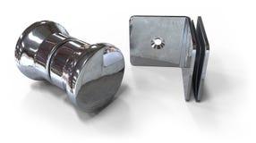 Glass door accessories Stock Image