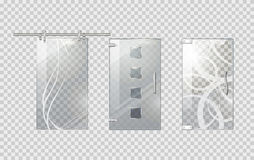 Glass Door Collection on Transparent Background Royalty Free Stock Photography