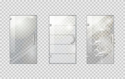 Glass Door Collection on Transparent Background Stock Image