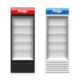 Glass door display fridge Stock Image