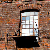 Glass door and fire escape Royalty Free Stock Photos