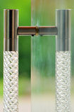 Glass door handle. Looking beautifull Stock Images