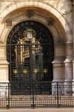Glass door - Hotel de Ville stock photos