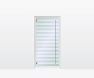 Glass door illustration Royalty Free Stock Images