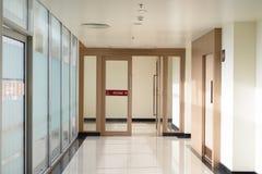 The glass door Stock Image