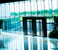 Glass doors Stock Photo