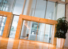 Glass doors stock image