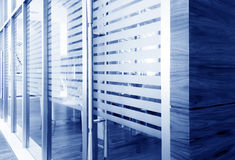 Glass doors. Office corridor door glass partitions room business Stock Photo