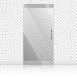 Glass doors with chrome silver handles set royalty free illustration