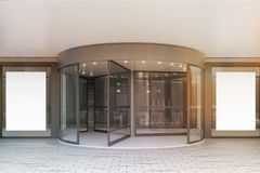 Glass doors of corporate building, posters, toned Royalty Free Stock Photography