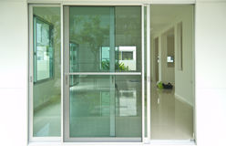 Glass doors in home Royalty Free Stock Images
