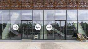 Glass doors royalty free stock photo