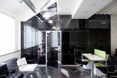 Glass doors in the new office royalty free stock image