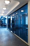 Glass doors in the new office stock photo