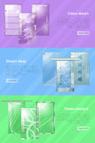 Glass Doors Shops and Markets Colourful Web Banner Stock Photography