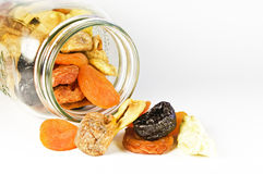 Glass with dried fruits Royalty Free Stock Images