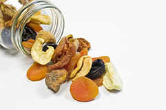 Glass with dried fruits Stock Image