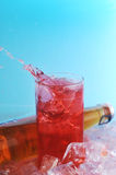 Glass  with drink Royalty Free Stock Images