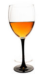 Glass with a drink. On a white background Stock Photos