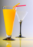 Glass with drink Royalty Free Stock Photos
