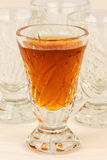 A glass of drink. There is a glass of drink in the photo Royalty Free Stock Images
