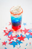Glass of drink on american independence day party Stock Photography