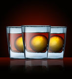 Glass with drink Royalty Free Stock Photo
