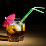 Glass with a drink Stock Photos