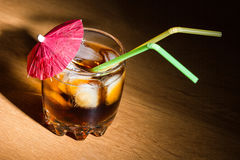 Glass with a drink Stock Photography