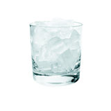 Glass with a drink and ice. On a white background Stock Photo