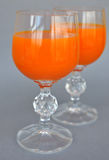 Glass with drink. View of two glasses with drink Royalty Free Stock Photography