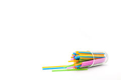 Glass and drinking straws Stock Image