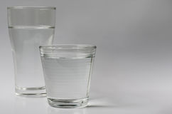 Glass of Drinking Water. Stock Photo