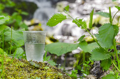 Glass of drinking water Royalty Free Stock Photography