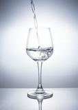 A Glass of drinks. Wine glass of drink Stock Photos