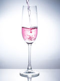 A Glass of drinks. Wine glass of drink Stock Images