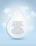Glass Drop Frame on Abstract Background Vector Royalty Free Stock Photos