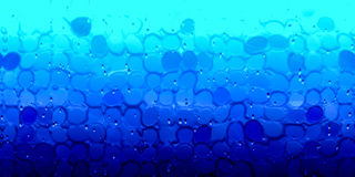 Glass drops as a wall of blue tones pool. 3d illustration Glass drops as a wall of blue tones pool Creative Design Templates Stock Photography