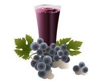 glass druvafruktsaft Royaltyfri Foto