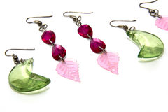 Glass earrings Royalty Free Stock Photo