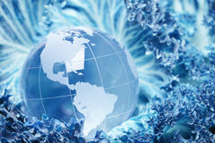 Glass earth Royalty Free Stock Photo