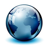 Glass Earth globe Royalty Free Stock Images