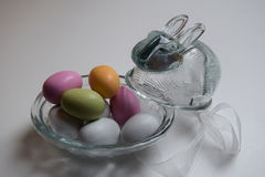 Glass easter bunny Stock Photography