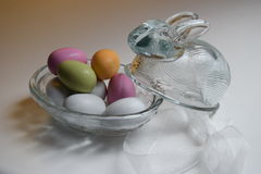 Glass easter bunny Royalty Free Stock Image