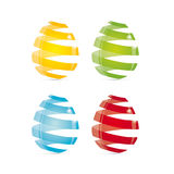 Glass Easter Eggs Stock Images