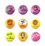 Glass eco badges Stock Photo