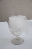 Glass with effect of dry ice Stock Photos