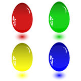 Glass eggs Stock Images